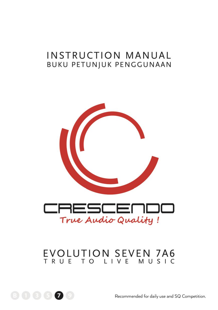 Instruction Manuals Archives - Crescendo   Audio Mobil Berkualitas